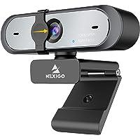 60FPS AutoFocus 1080P Webcam with Software Control, Dual Microphone & Cover, 2021 NexiGo N660P Pro HD USB Computer Web…