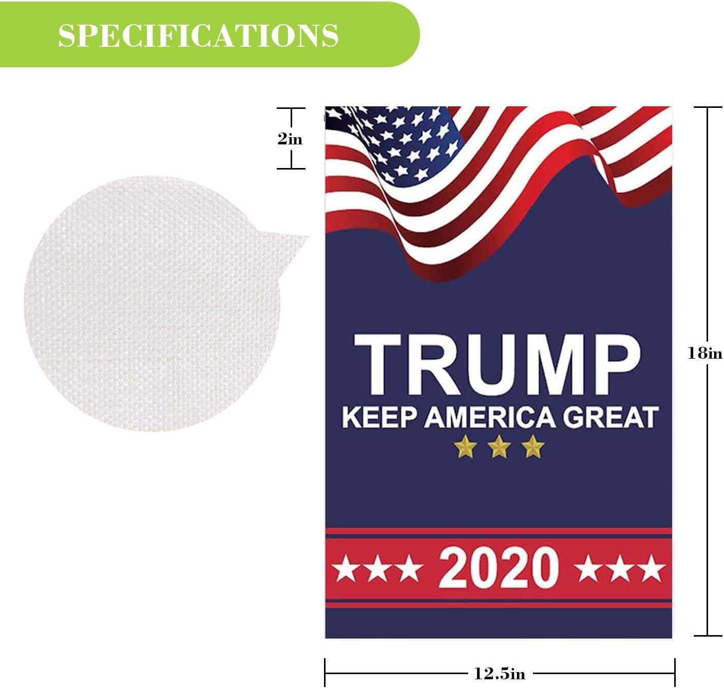 Donald Trump 2020 Garden Flags Double Sided or Outdoor Yard /& Election Day(12.5 x 18 Inch)