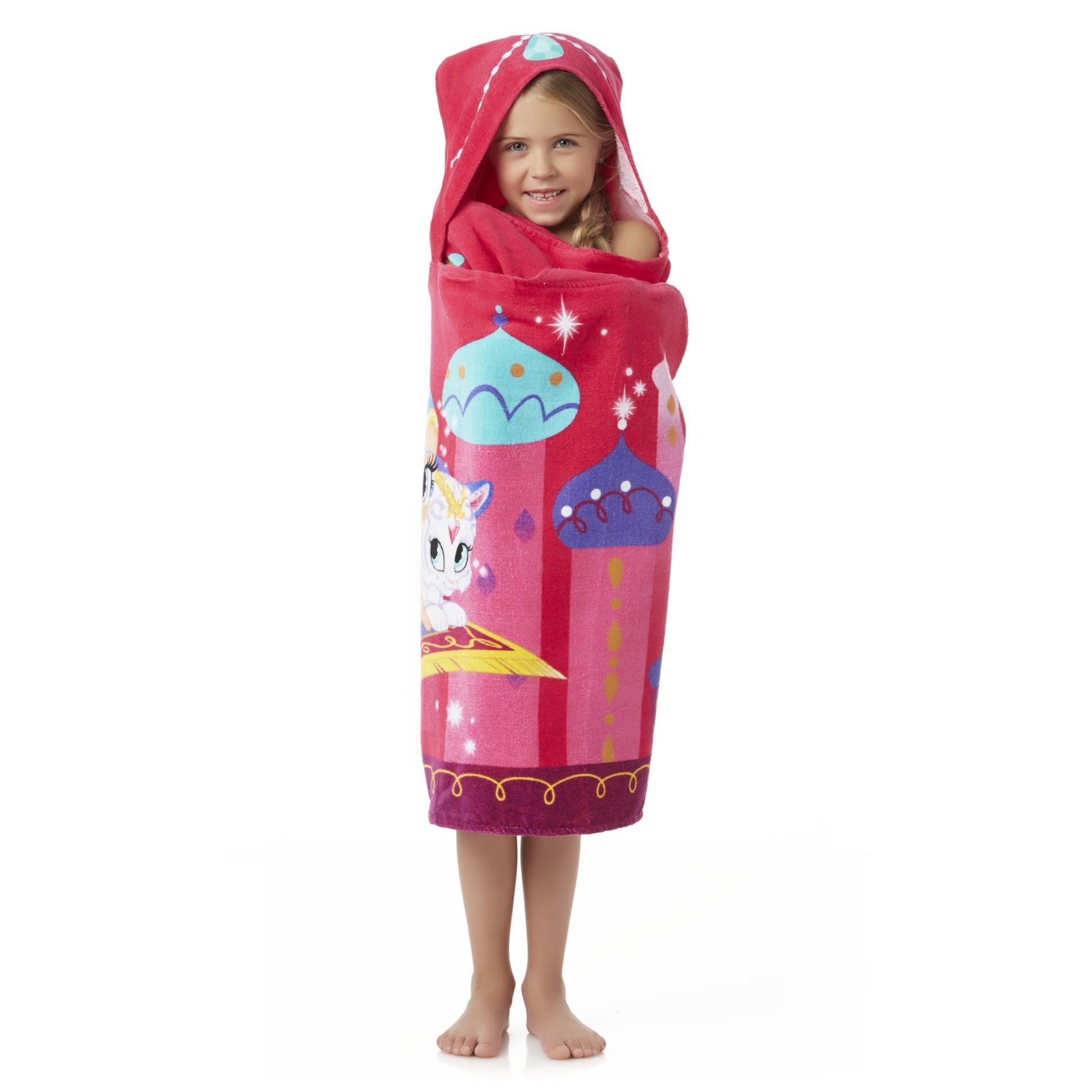 Shimmer and Shine Hooded Towel Wrap for Bath, Pool and Beach