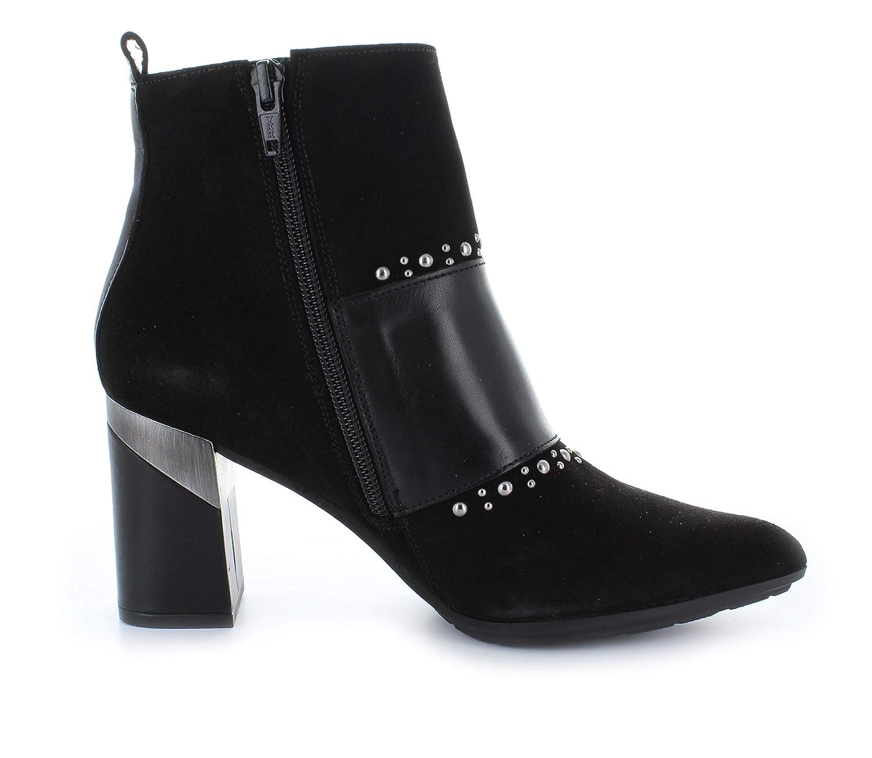 Hispanitas Damen Damen Damen Stiefelette Lino-7 87886 spitz Blockabsatz hoch Leder Nieten schwarz (schwarz) d8bc71