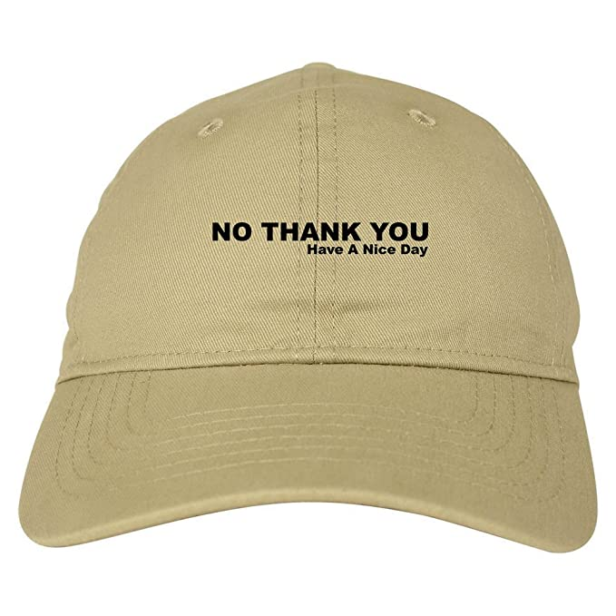 FASHIONISGREAT No Thank You Have A Nice Day Dad Hat Baseball Cap Beige bd240b6641c
