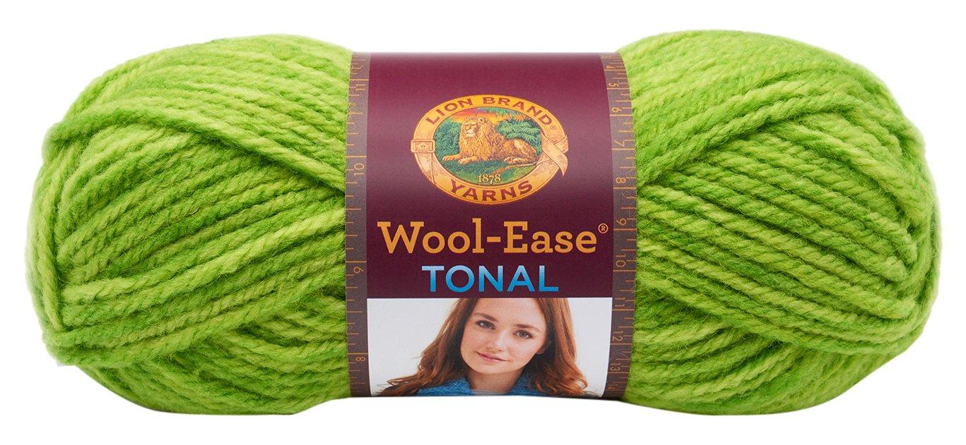 Lion Yarn-Gomitolo di Lana Wool-Ease-Tonal, in Acrilico, Colore: Verde Lime Lion Brand Yarn 635-194
