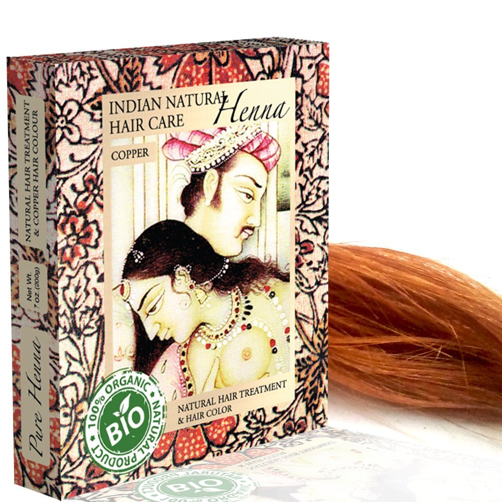 Henna Powder - Red Hair Dye - Fresh and Pure Organic - 7 ounce - Indian Natural Hair Care by Indian Natural Hair Care