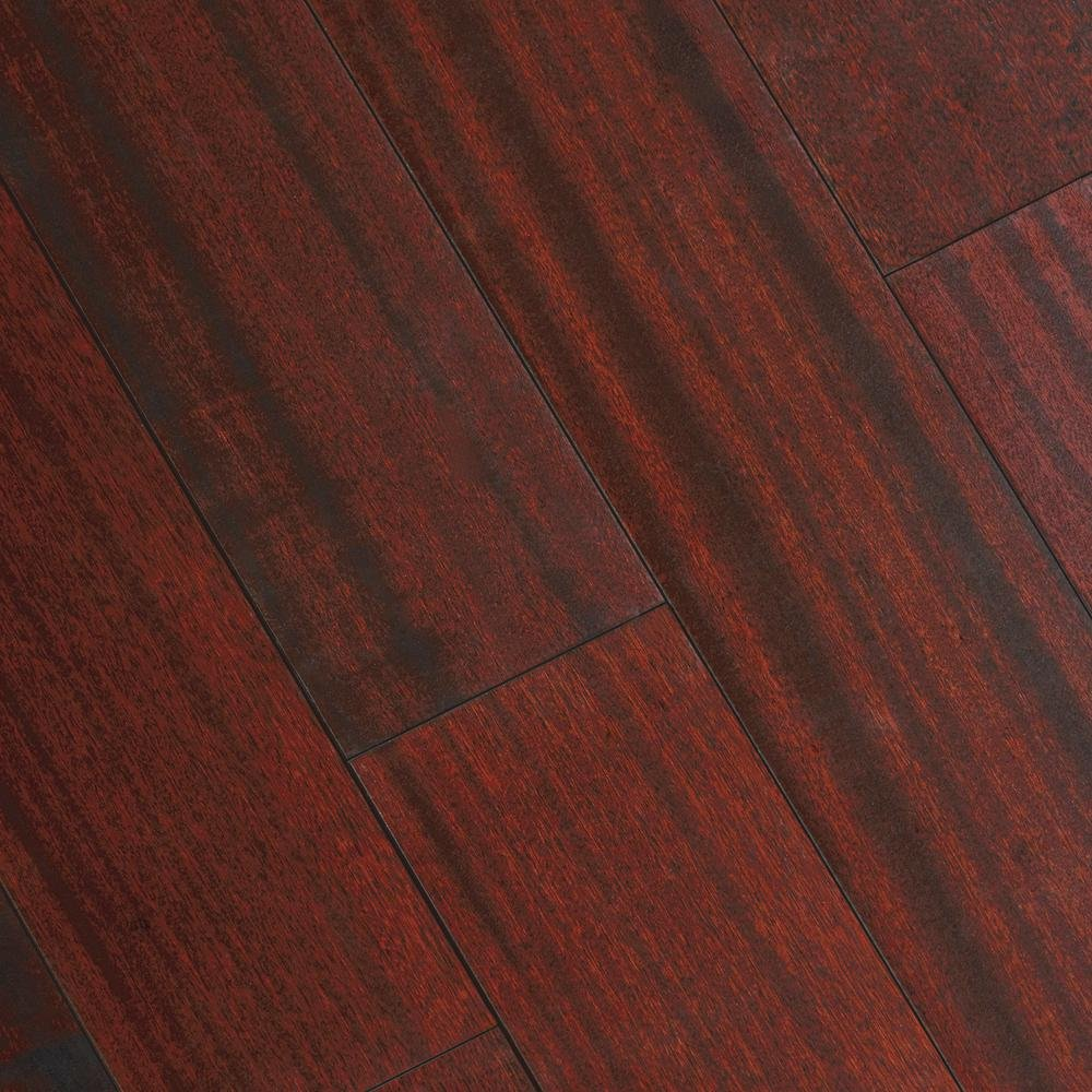 Matte Corbin Mahogany 3/8 in. Thick x 5 in. Wide x 47-1/4 in. Length Click Lock Hardwood Flooring (19.686 sq. ft. /case)