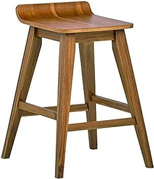 Amazon Com Amazon Brand Stone Beam Fremont Rustic Kitchen Counter Saddle Farmhouse Bar Stool 25 5 Inch Height Natural Wood Furniture Decor