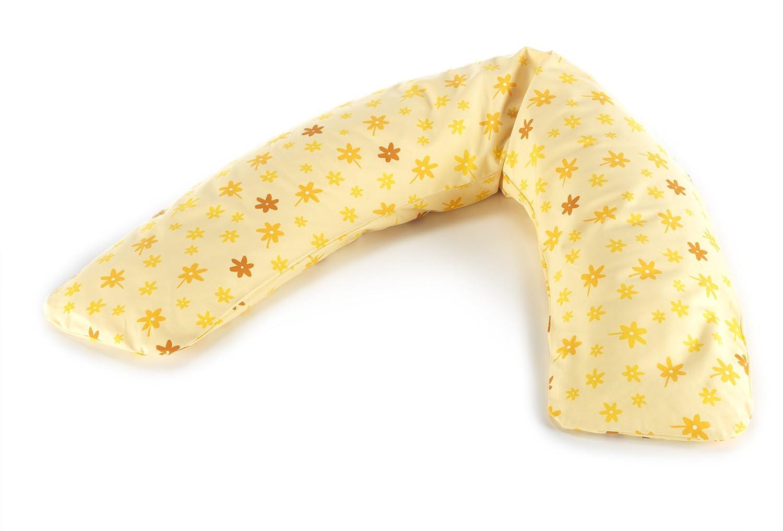 41 Bl/ümchen gelb Feink/öperbezug Theraline Das Komfort Stillkissen 180 cm inkl