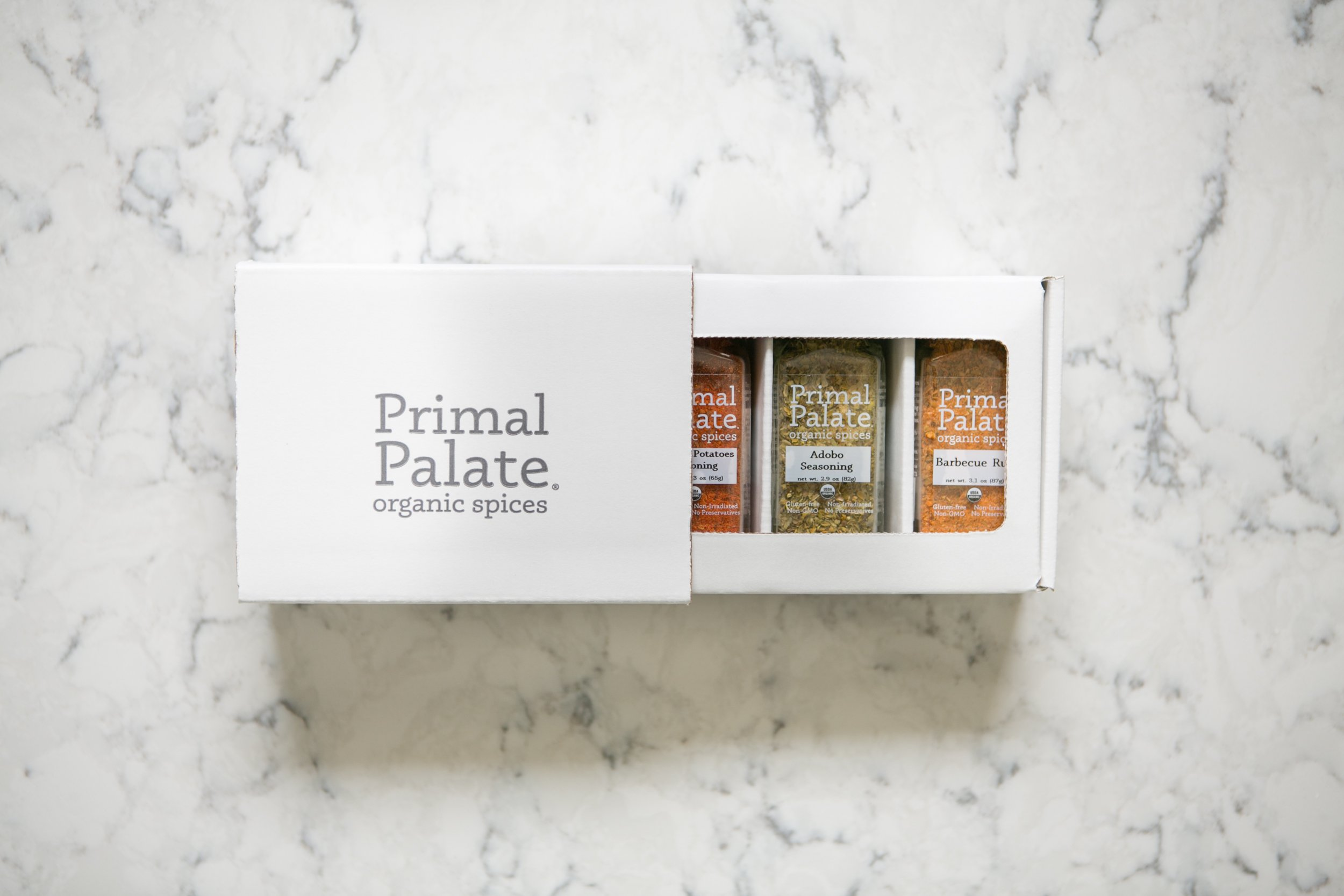 Primal Palate Organic Spices - Signature Blends 3-Bottle Gift Set