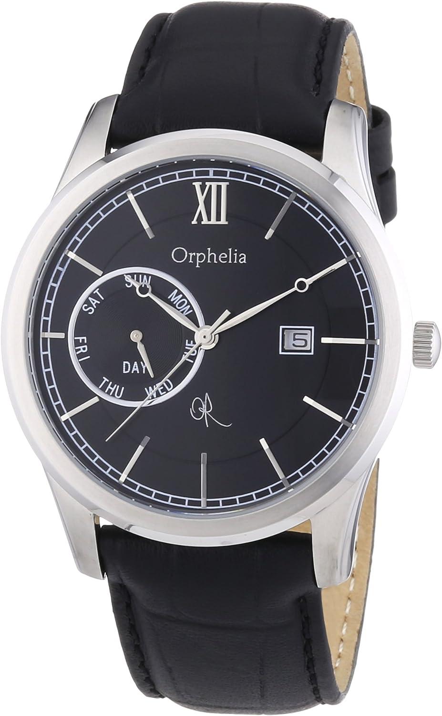 Orphelia 132-6707-44 - Reloj analógico de Cuarzo para Hombre con Correa de Piel, Color Negro