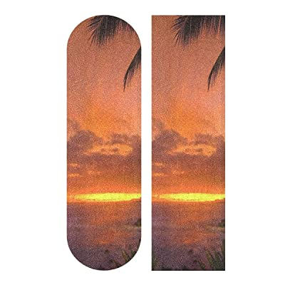 Ernest Congreve Hawaii Sunset 33 x 9 inch Skateboard Grip Tape Sheet Bubble Free Skateboard Longboard Griptape Sand Paper Non-Slip : Sports & Outdoors