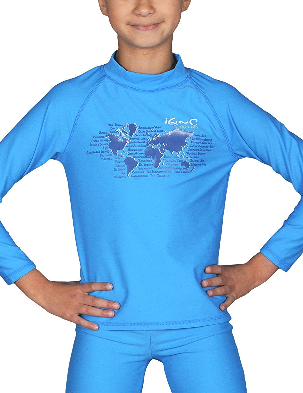 iQ-Company UV 300 Shirt Youngster LS Ocean - Camiseta con Manga ...