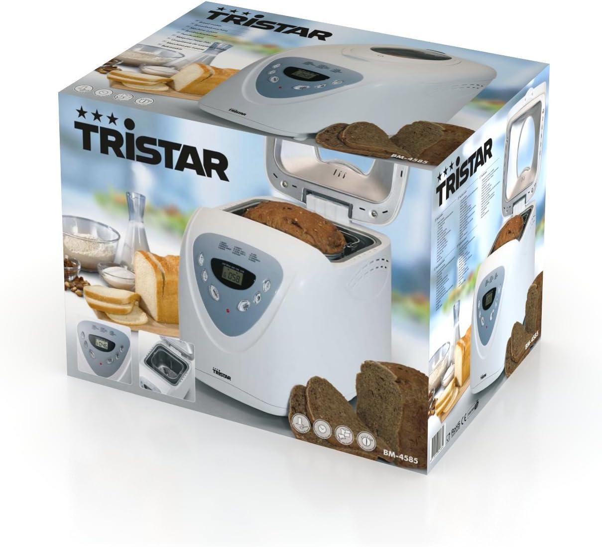 Tristar BM-4585 - Panificadora, 750-900 g, 12 programas de cocción ...