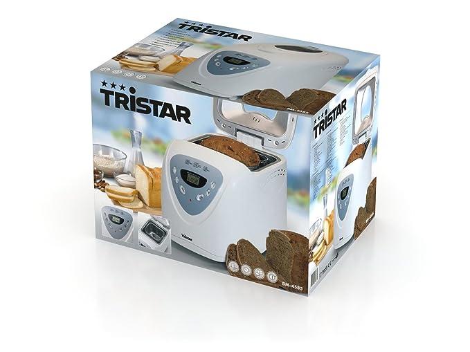 Tristar BM-4585 - Panificadora, 750-900 g, 12 programas de cocción pre-programados, 600 W