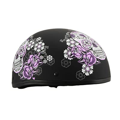 Milwaukee Performance Helmets Women's Size half helmet (MAT BLACK, XL): Automotive