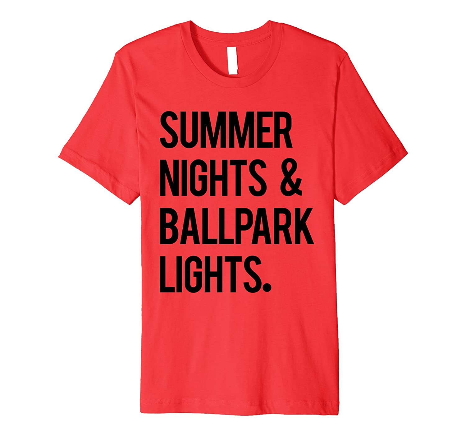 c612ef42c042 Summer Nights Ballpark Lights Baseball Tee Men Women Cool-CD – Canditee