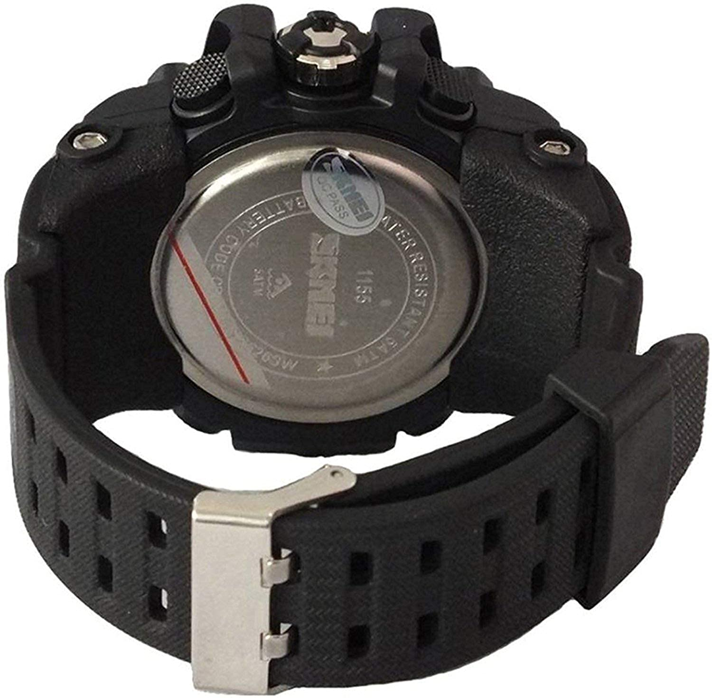 SK1155C - Reloj Digital para Hombre (Esfera Amarilla, Multifuncional, 500 Millones de pulsaciones): Amazon.es: Relojes
