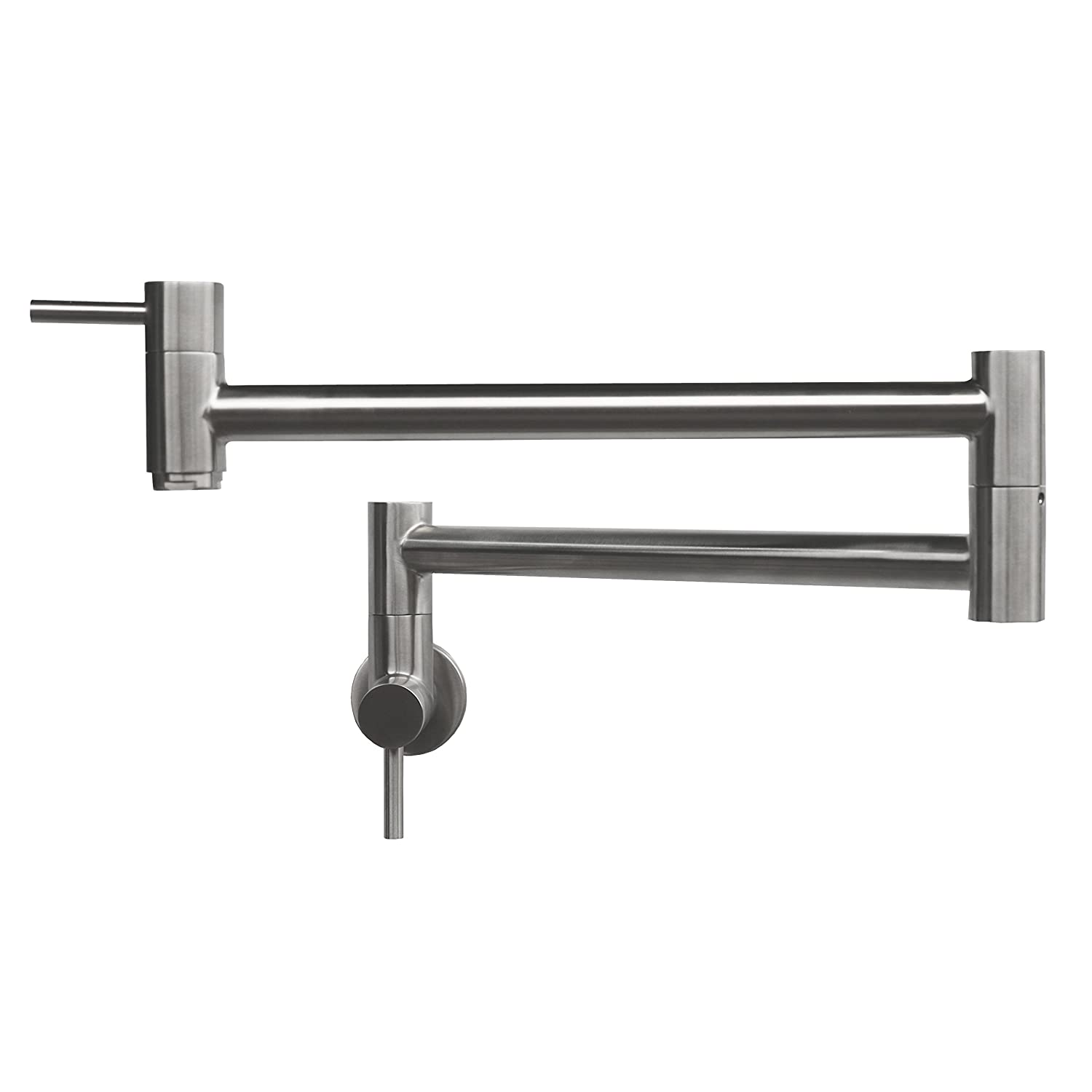 Geyser GF45-B Stainless Steel Pot Filler Kitchen Faucet Wall Mount 2 Handles GF45-S