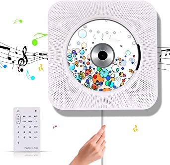 Cd Player Suaver Wall Mounted Bluetooth Home Audio Speaker Built In Hi Fi Speaker With Remote Control Fm Radio Usb Mp3 3 5 Mm Headphone Aux Input Output Beleuchtung