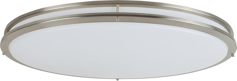 Design House 587261 Integrated LED Flush Mount Ceiling Light, Brushed Nickel, Oval