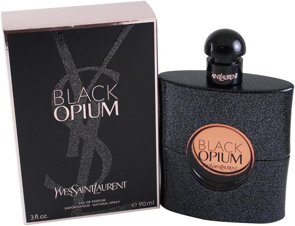YVES SAINT LAURENT BLACK OPIUM - Agua de perfume vaporizador para mujer, 90 ml
