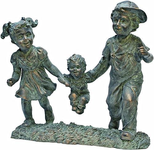 Design Toscano Swing Time Boy and Girl Garden Statue