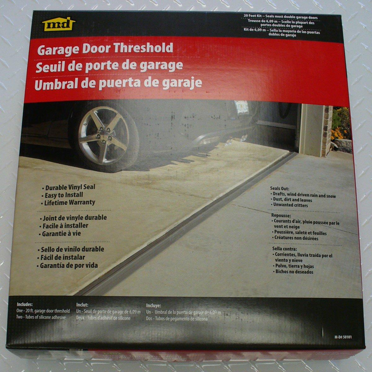 md building products 20feet double door garage door threshold kit garage door seal amazoncom