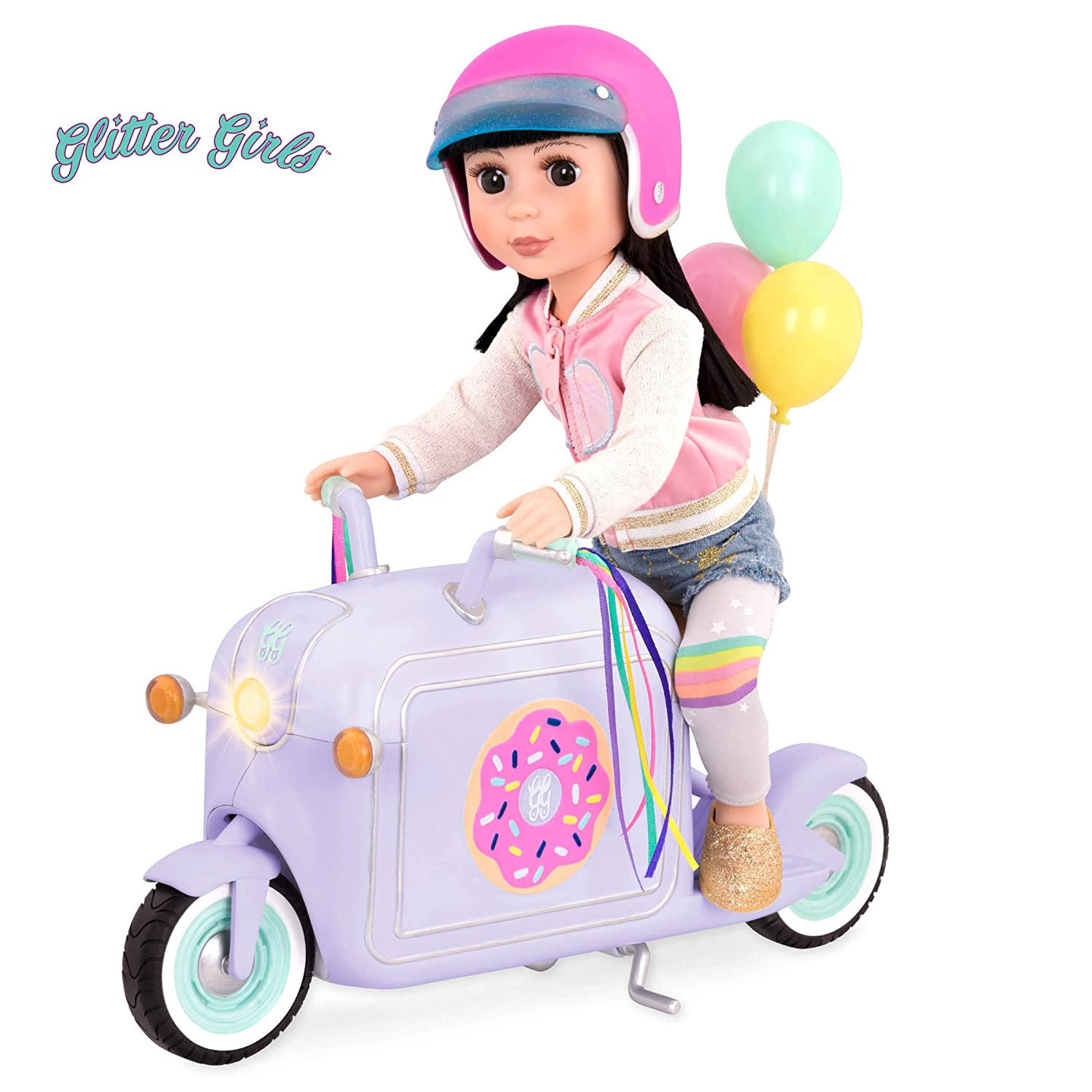 Glitter Girls by Battat – Donut Delivery Scooter – Toy Car, Bike, and Vehicle Accessories for 14-inch Dolls – Ages 3 and Up