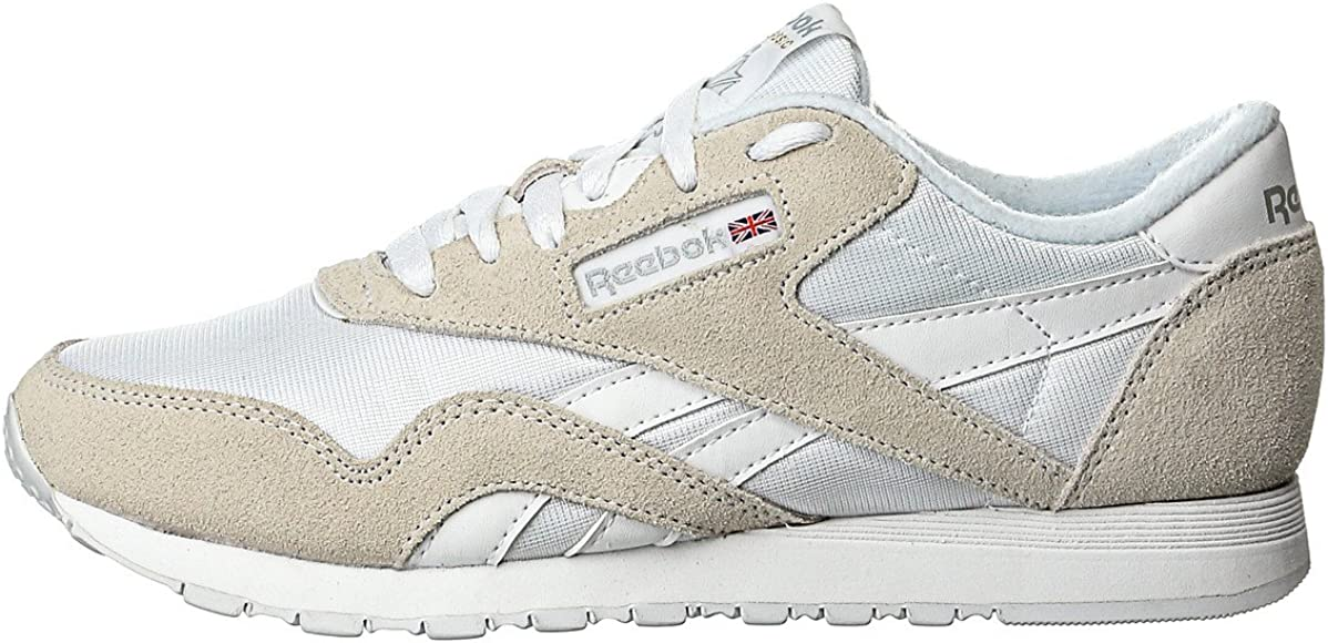 Reebok Classic Nylon Zapatilla de Running Hombre, Blanco (White / Light Grey), 38.5: Amazon.es: Zapatos y complementos