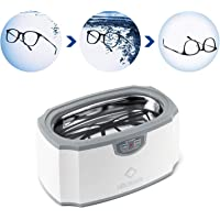 Digital Ultrasonic Cleaner Machine 420ml Professional Personal Care Washer Automatic Off Cleaner for Glasses Rings…