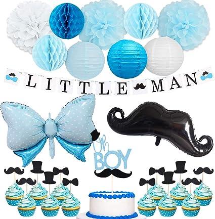 bow tie garland// mustache LITTLE MAN baby shower decoration bow tie decoration