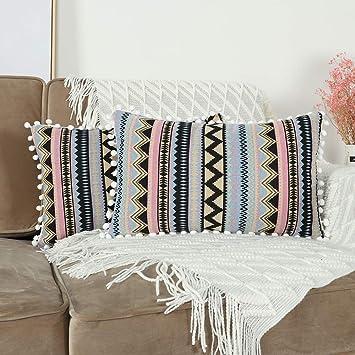 Amazon.com: Mandioo - Fundas de almohada decorativas con ...