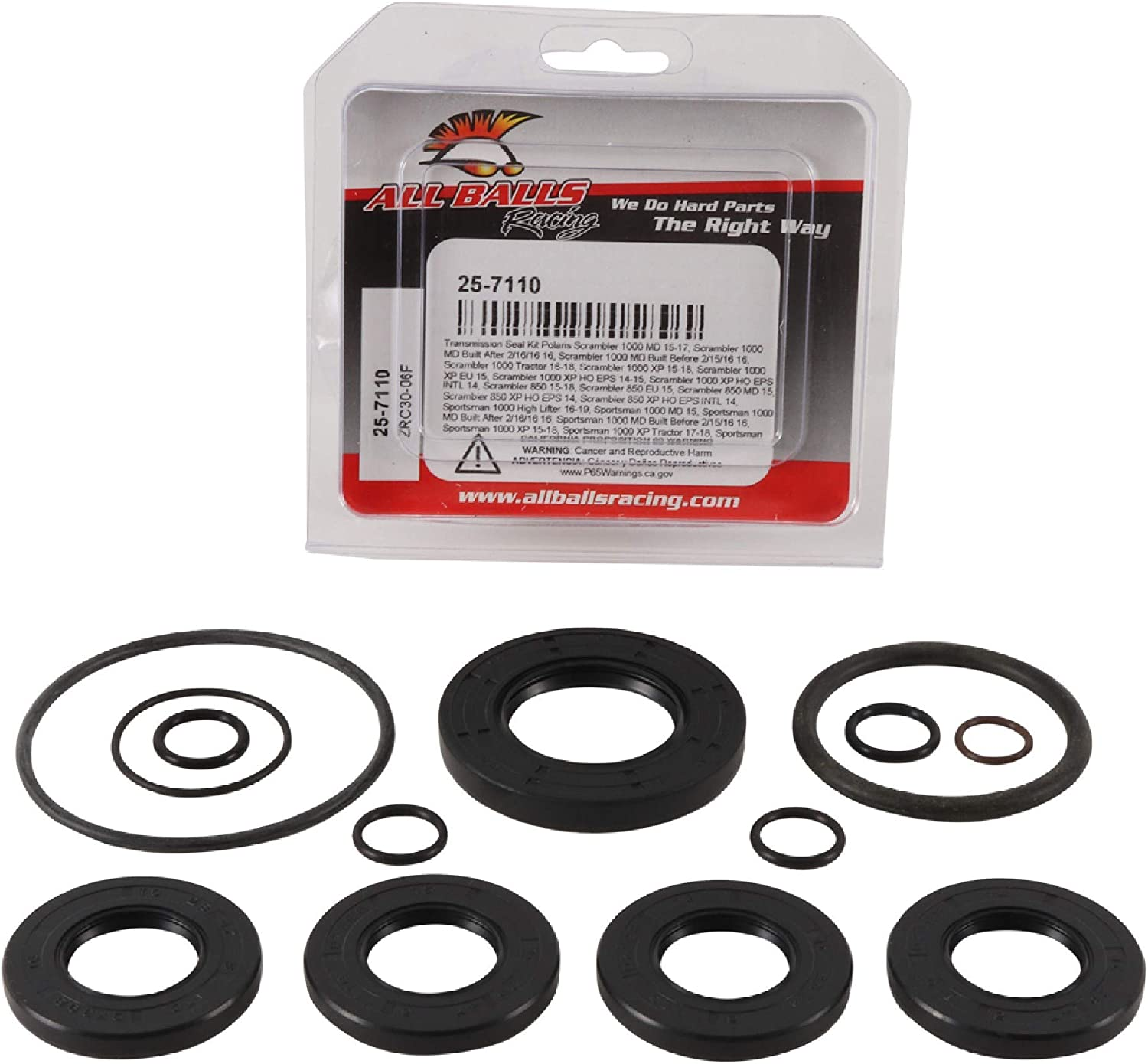 New All Balls 25-7110 Transmission seal kit Compatible with//Replacement For Polaris Scrambler 1000 MD 2015-2017 Scrambler 1000 MD Built After 2//16//16 2016 Scrambler 1000 MD Built Before 2//15//16 2016