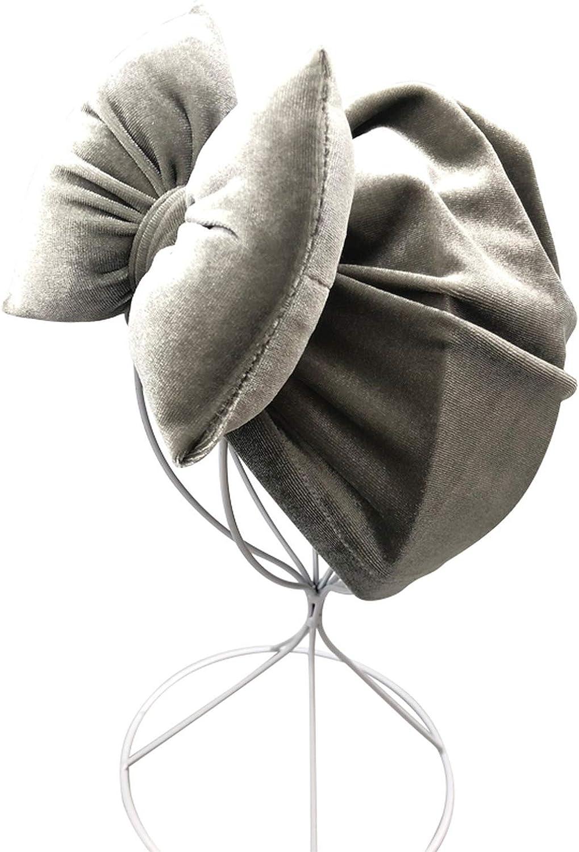 Baby Hat Cap Baby Girl Boy Velvet Cotton Pillow with Bowknot Baby Beanie Turban Autumn,21