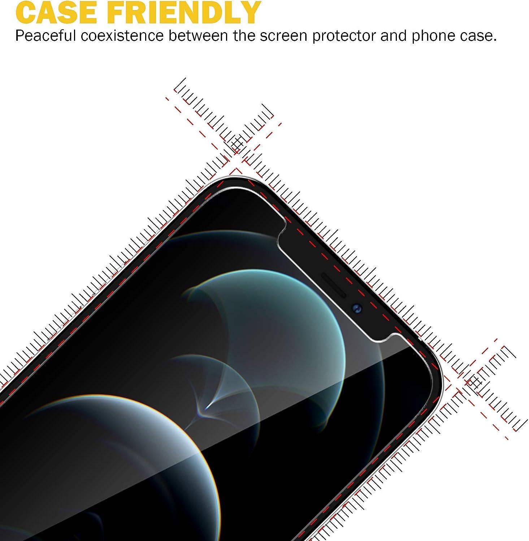3 Schutzfolie und 3 Kamera Schutzfolie 9H H/ärte Schwarz HD Klar Displayschutzfolie Kratzfest EGV 6 St/ück Schutzfolie Kompatible mit iPhone 12,6.1 Zoll mit Null Fehler Positionierhilfe