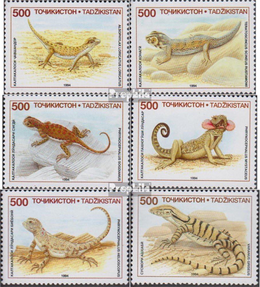 Prophila Collection Tayikistán 62-67 (Completa.edición.) 1995 Locales Lagartos (Sellos para los coleccionistas) Anfibios / Reptiles / Dinosaurio: Amazon.es: Juguetes y juegos