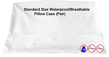 pillow liner. floppy ears design waterproof breathable membrane pillow liner protector, standard size, set of w