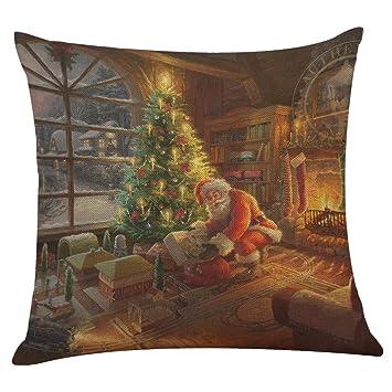 Amazon.com: Navidad Santa Claus fundas de almohada ...