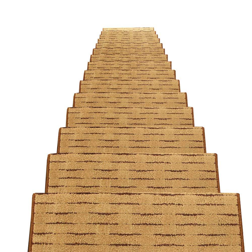 屋内/屋外の魔法のバックルのタイプ滑り止めのカーペットの階段ステップ踏面、木製の階段のための正方形の敷物 (色 : Set of 13, サイズ さいず : 75x24x3cm) 75x24x3cm Set of 13 B07MH9K6R7