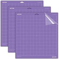 Strong Grip Cutting Mat for Cricut Explore One/Air/Air 2/Maker 3 Packs Cut Mats Replacement Accessories for Cricut, 12 x…