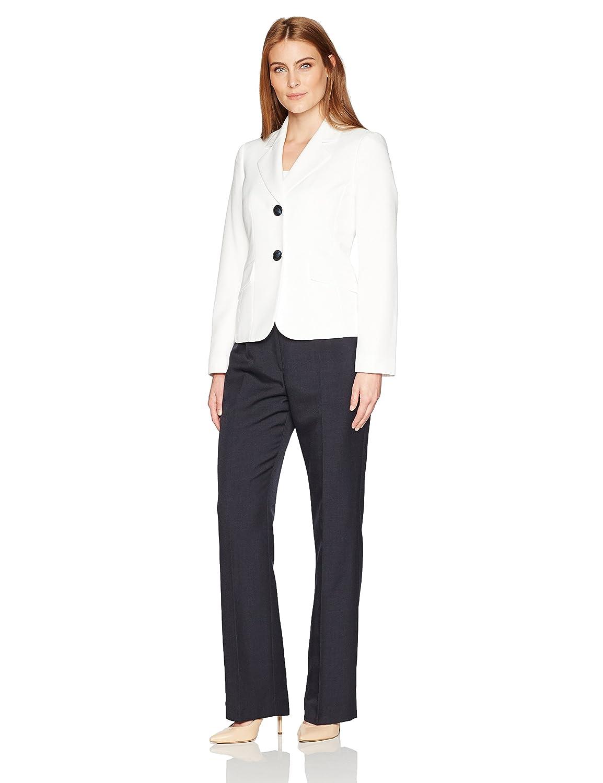LeSuit Womens Glazed Melange 2 Button Pant Suit Le Suit Women' s Suits 50035915-1DD