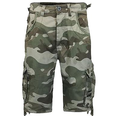 NEW MENS CROSSHATCH MILITARY CARGO COMBAT CAMO ARMY BERMUDA SUMMER SHORTS PANTS