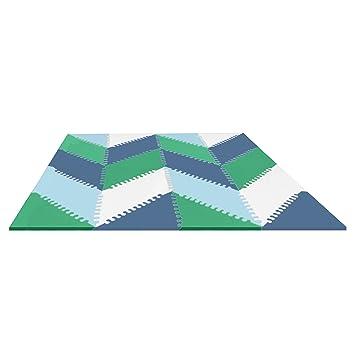 Amazon Skip Hop Geo Playspot Foam Floor Tiles Bluegreen Baby