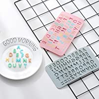 Silicone Moulds, Alphabet Shape Molds for Ice Cube Trays Chocolate Cookie Jelly Baking Tool DIY (2 Pcs, Alphabet Mold)