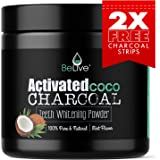 Teeth Whitening Charcoal Powder made from Organic Coconut Shell – Eliminates Bad Breath, Coffee & Tea Stains, Oral Germs – 2 x FREE Activated Charcoal Strips