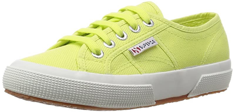 Superga 2750 Cotu Classic Sneakers Low-Top Unisex Damen Herren Gelb (Sunny Lime)