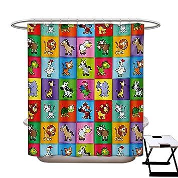 Amazon.com: Cortina de ducha para habitación infantil ...