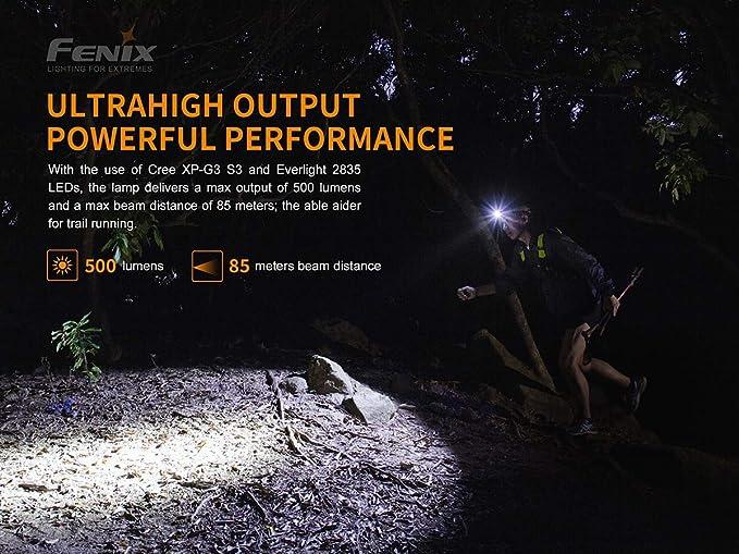 Fenix hl18rw DEL Lampe Frontale 500 lm