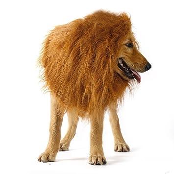 cozime lion mane costume for large dog pet lion neckerchief collar wigs mane hair halloween