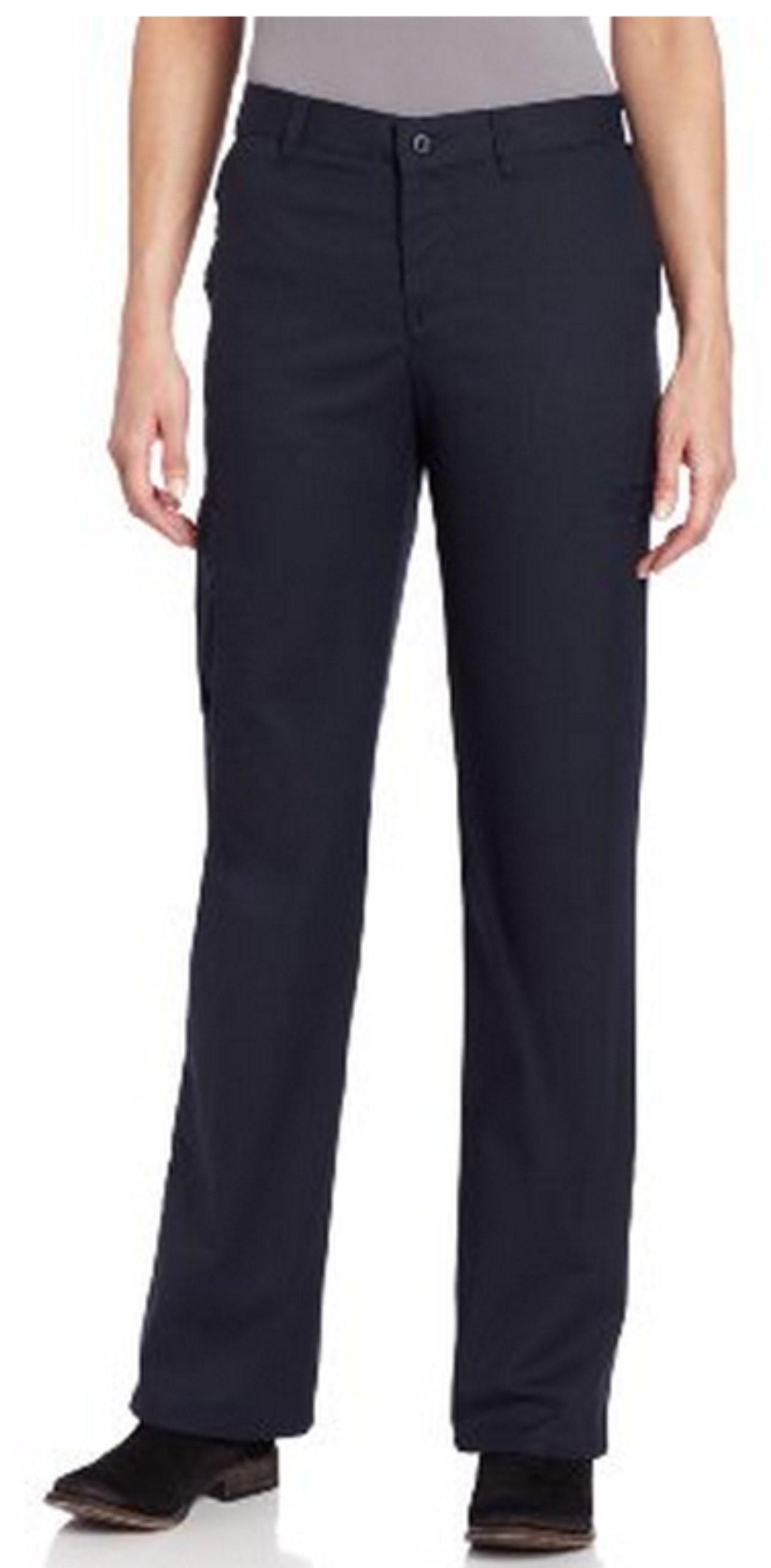 Dickies Women's Premium Relaxed Straight Cargo Pants,Dark Navy,10 Petite