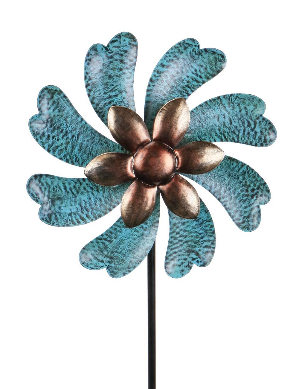 MUMTOP Wind Spinner 45'' Wind Sculptures for Patio Lawn and Garden Let You Feel Different Visual Effects and Relax Your Mood (Cyan) by MUMTOP