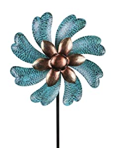 "MUMTOP Wind Spinner 45"" Wind Sculptures for Patio Lawn and Garden Let You Feel Different Visual Effects and Relax Your Mood (Cyan)"